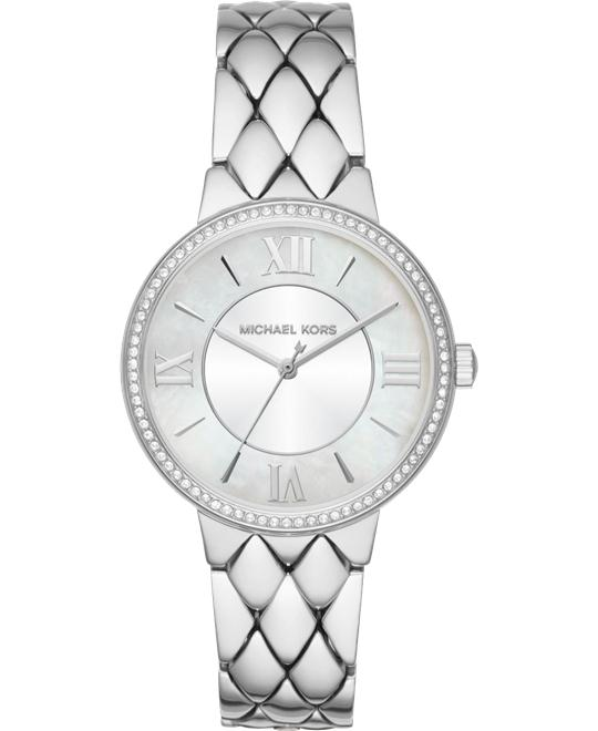 MICHAEL KORS Courtney Pavé Silver-Tone Watch 36mm