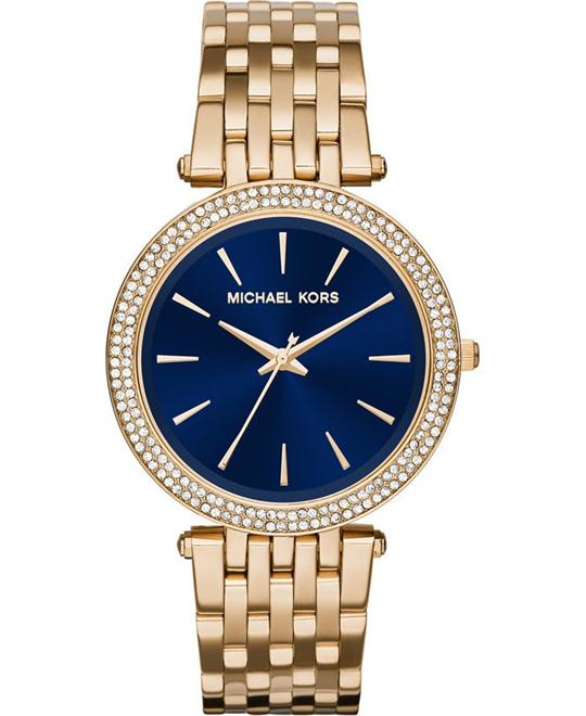 MICHAEL KORS  Darci Pavé Gold-Tone Watch 39mm