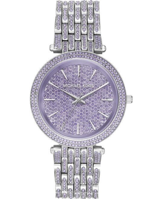 đồng hồ MICHAEL KORS Darci Pavé Silver-Tone Watch 39mm
