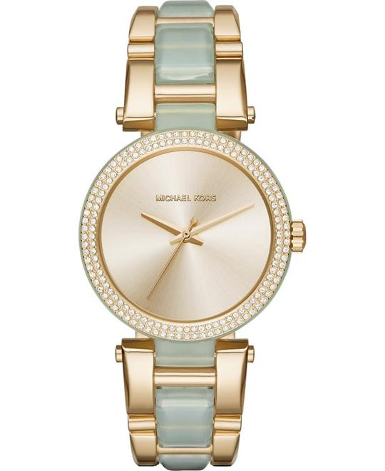MICHAEL KORS Delray Pave Champagne Watch 36mm