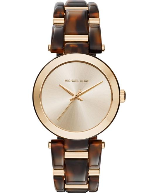 MICHAEL KORS Delray Tortoise Acetate Watch 36mm