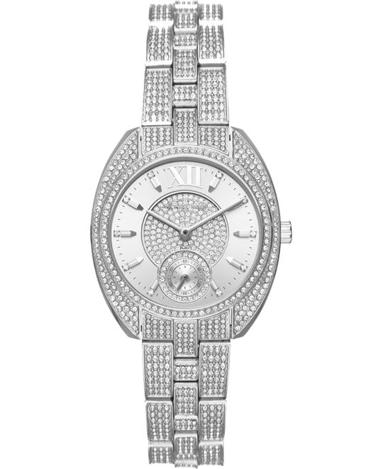 MICHAEL KORS Dena Pavé Silver-Tone Watch 33mm