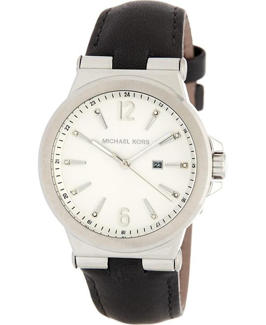 Michael Kors Dylan black Leather Silver Tone watch 38mm