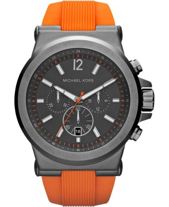 Michael Kors Dylan Gunmetal Silicone Men's Watch 48mm