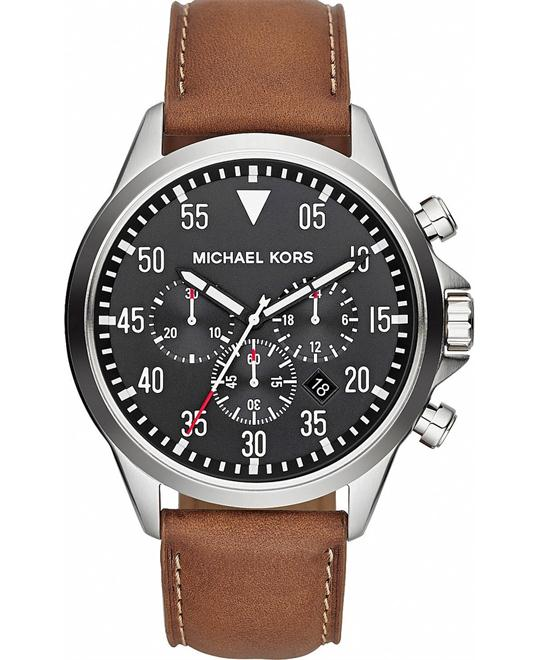 Michael Kors Gage Chronograph Tan Watch 45mm