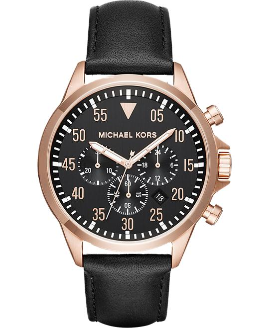 MICHAEL KORS Gage Rose Gold Watch 45mm