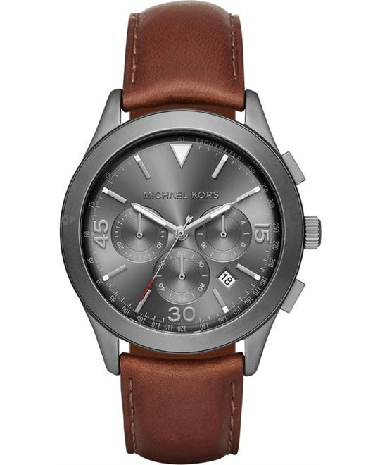 MICHAEL KORS Gareth Grey Gunmetal Watch 43mm