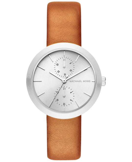 Michael Kors Garner Light Brown Leather Watch 39mm