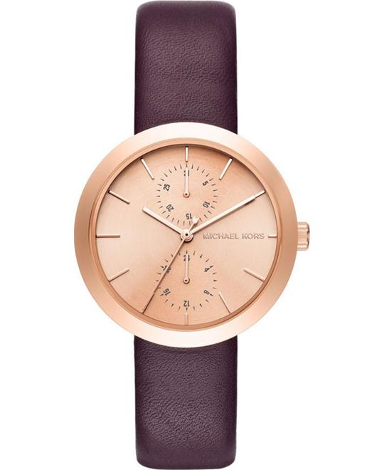 Michael Kors Garner Rose Gold Plum Watch 39mm