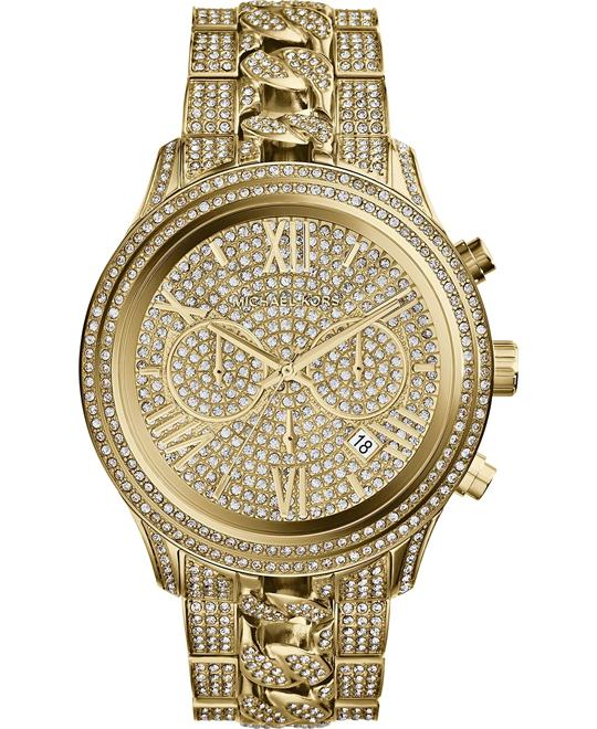 Michael Kors Lindley Unisex Crystal Pave Watch 48mm