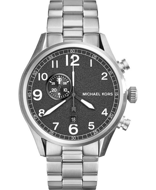 Michael Kors Hangar Silver-Tone Men's Watch 45mm