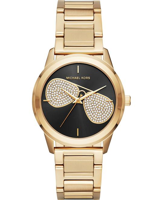 MICHAEL KORS Hartman Gold-Tone Aviator Watch 38mm
