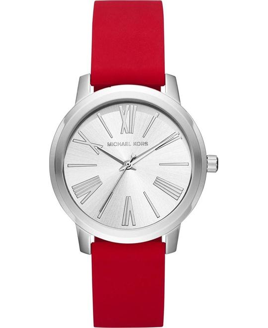 Michael Kors Hartman Red Silicone Watch 38mm