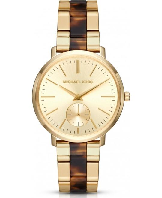 Michael Kors Jaryn Gold Dial Ladies Watch 38mm
