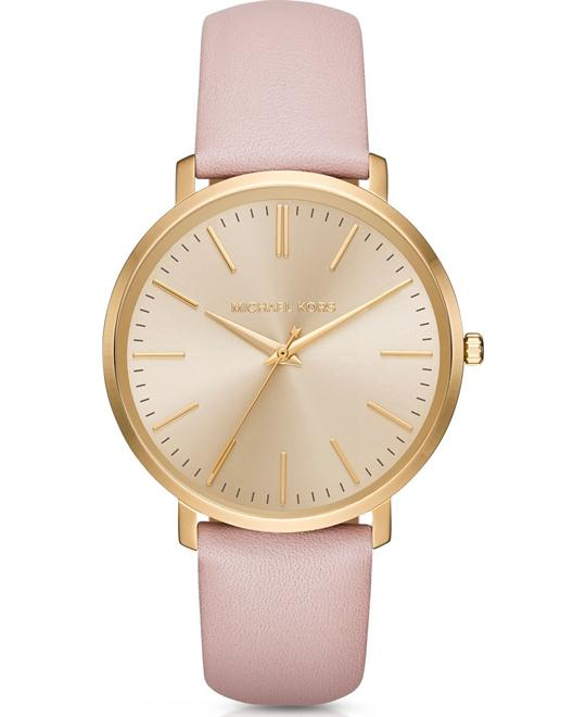 MICHAEL KORS Jaryn Leather Watch 41.5mm