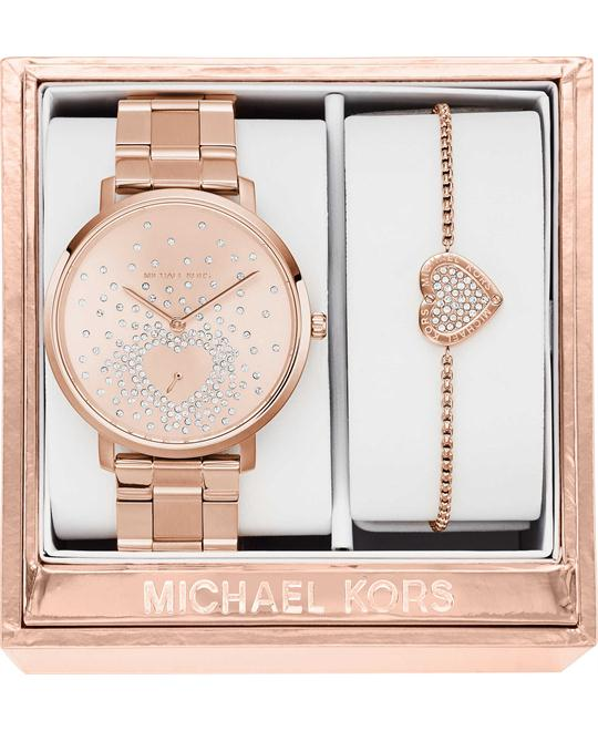 MICHAEL KORS Jaryn Pink Ladies Gift Set 38mm