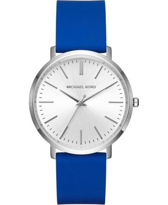 MICHAEL KORS  Jaryn Silver-Tone And Silicone Watch 41.5mm