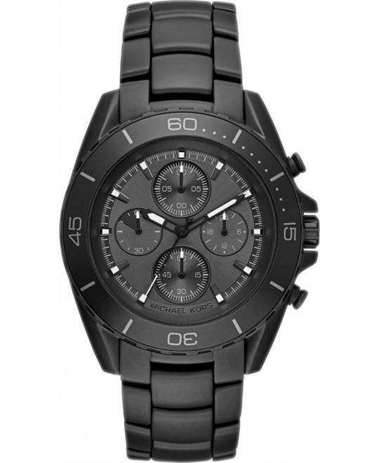 MICHAEL KORS JetMaster Black Chronograph Watch 43mm
