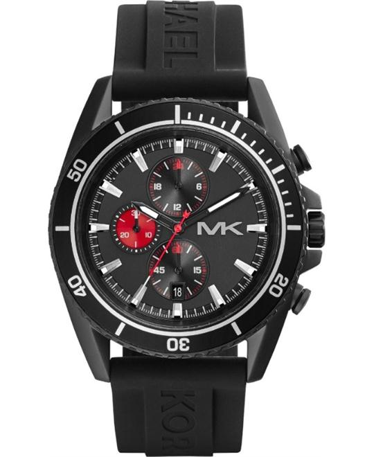 Michael Kors Jetmaster Black Silicone Watch 45mm