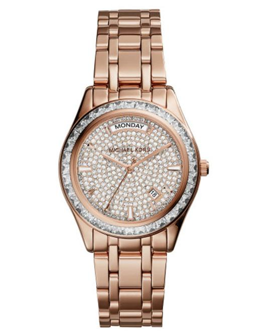 MICHAEL KORS Kiley Pavé Rose Gold Women's Watch 34mm