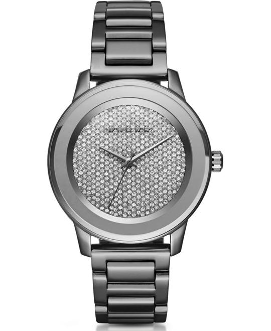 MICHAEL KORS Kinley Pavé Gunmetal Watch 41.5mm