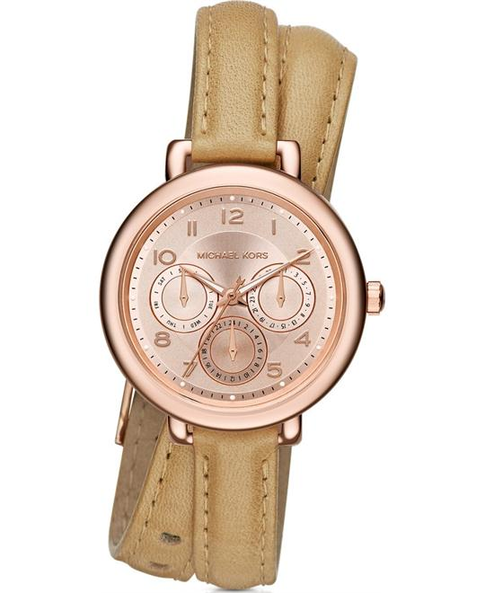 MICHAEL KORS Kohen Rose Gold Wrap Watch 38mm