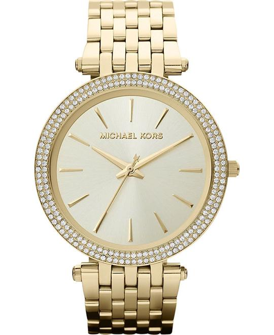 Michael Kors Darci Glitz Pave Bezel Ladies Watch 39mm