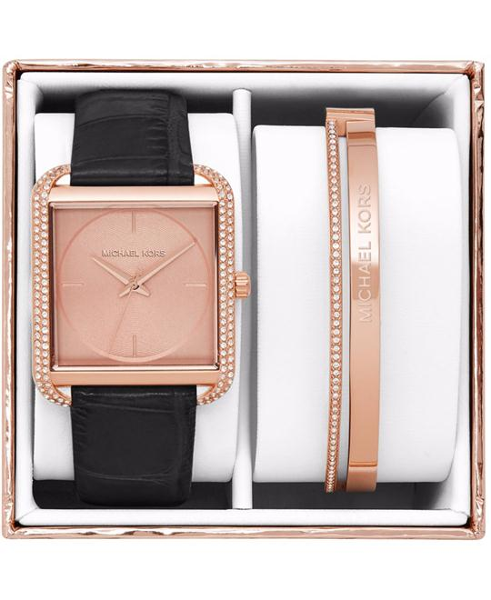 Michael Kors Lake Rose Gold-Tone Gift Box Set 32mm