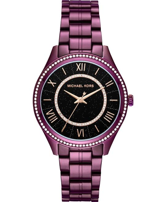 MICHAEL KORS Lauryn Celestial Pavé Plum-Tone Watch 38mm