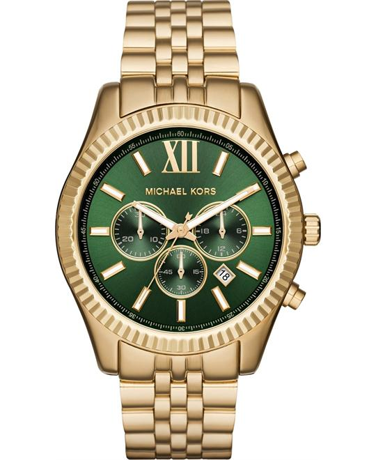 MICHAEL KORS Lexington Chronograph Green Watch 44mm