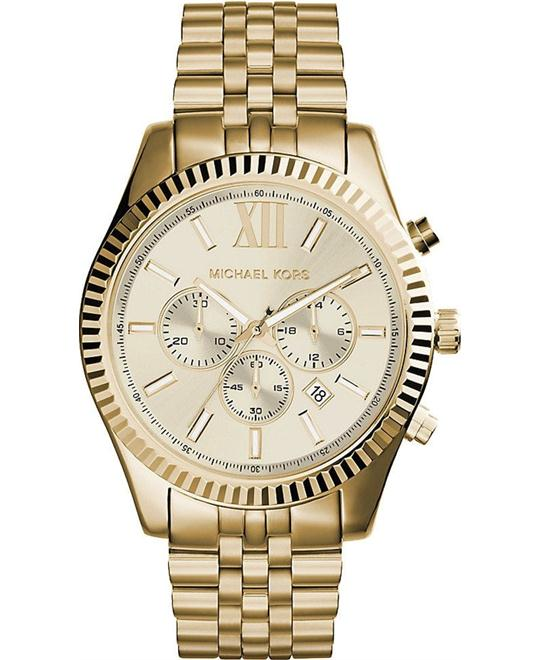 Michael Kors Lexington Gold Watch 45mm