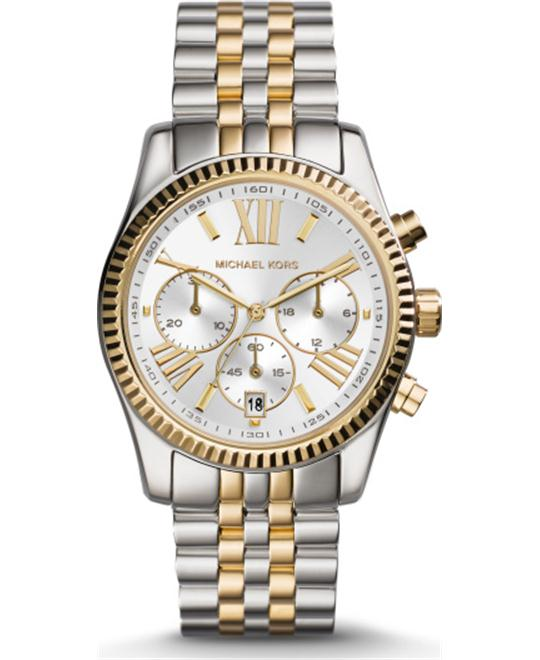 Michael Kors Lexington Two-Tone Unisex Watch 38mm