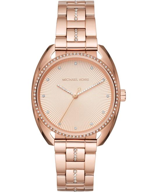 Michael Kors Libby Rose Gold-Tone Three-Hand Watch 38mm