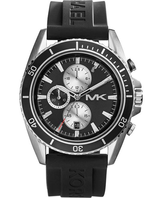Michael Kors JetMaster  Black Silicone Men's Watch 45mm
