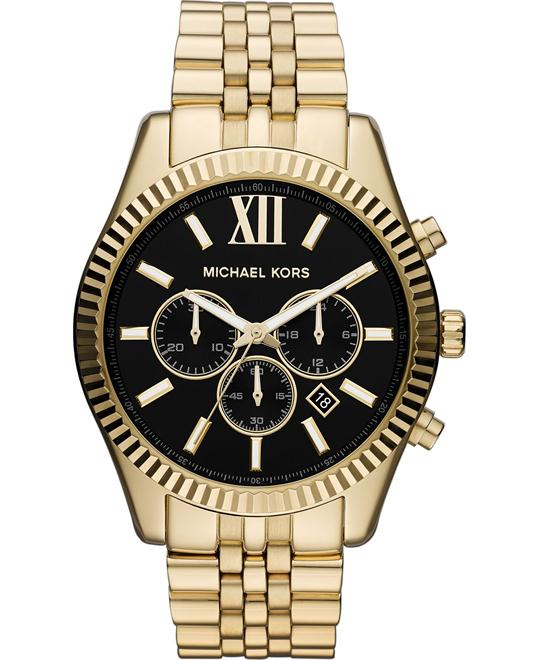 Michael Kors Lexington Gold Men's Watch 45mm