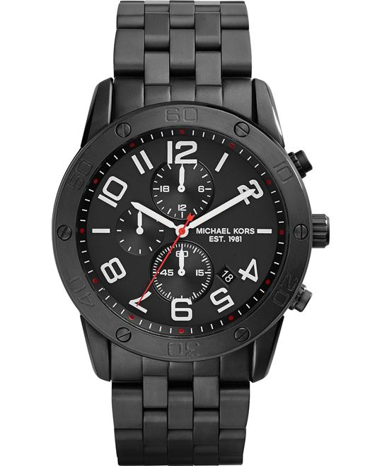 Michael Kors Mercer Ion-Plate Black Men's Watch 45mm