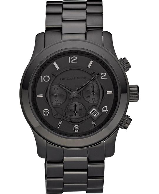 Michael Kors Runway Black Wrist Watch 45mm