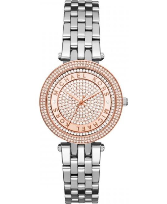 MICHAEL KORS Mini Darci Crystal Pave Watch 33mm