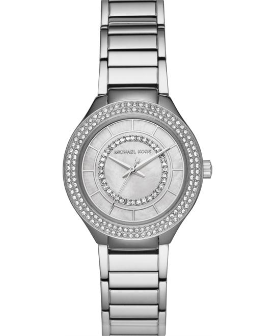 Michael Kors Mini Kerry Silver-Tone Watch 33mm
