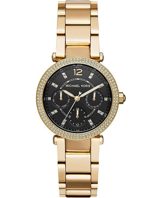 Michael Kors Mini Parker Gold-Tone Watch 33mm
