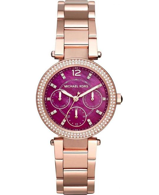 Michael Kors Mini Parker Rose Gold-Ton Ladies Watch 33mm