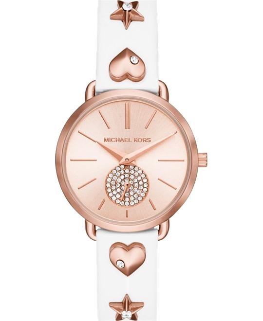 MICHAEL KORS Mini Portia Rose Gold-Tone Watch 32mm