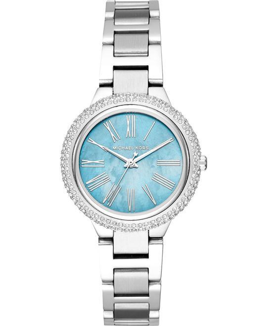 đồng hồ MICHAEL KORS Mini Taryn Pavé Silver-Tone Watch 33mm