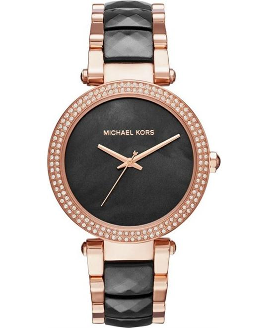 MICHAEL KORS Parker Black Dial Ladies Watch 39mm