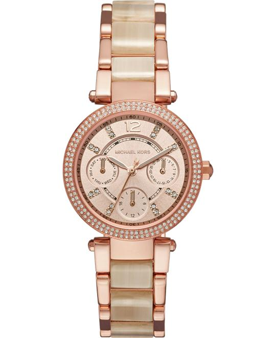 MICHAEL KORS Parker Pavé Rose Gold Watch 33mm