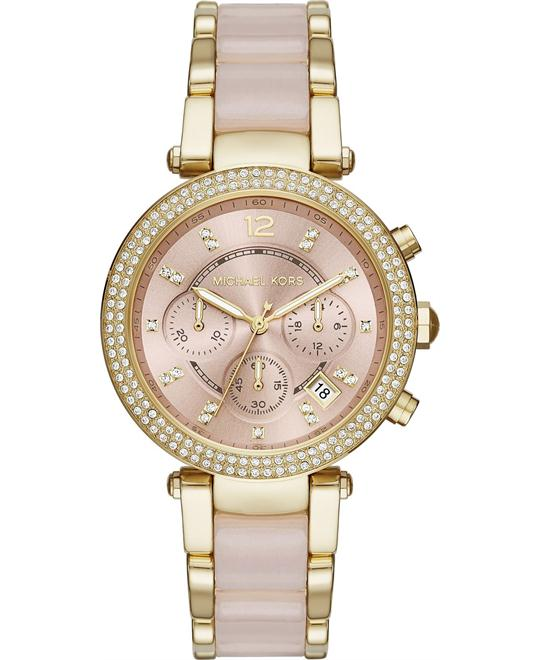 MICHAEL KORS Parker Pink Ladies Watch 39mm
