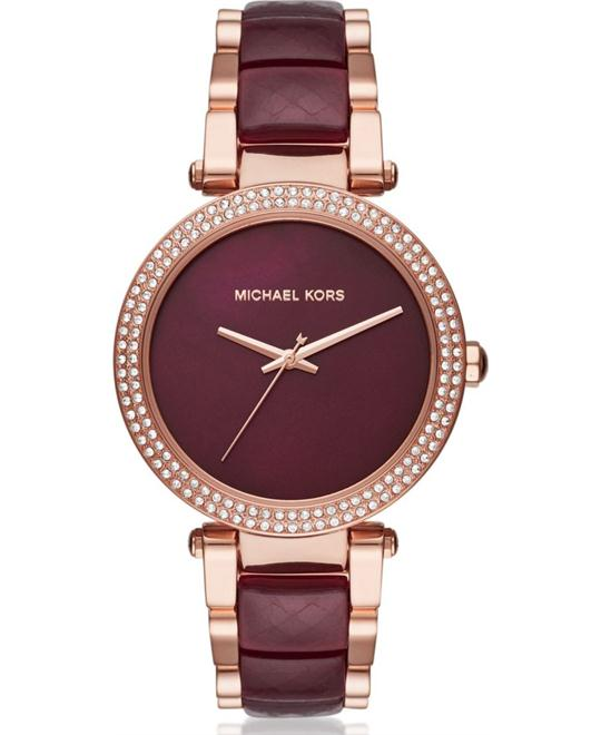 MICHAEL KORS  Parker Rose Gold-Tone And Acetate Watch 39mm