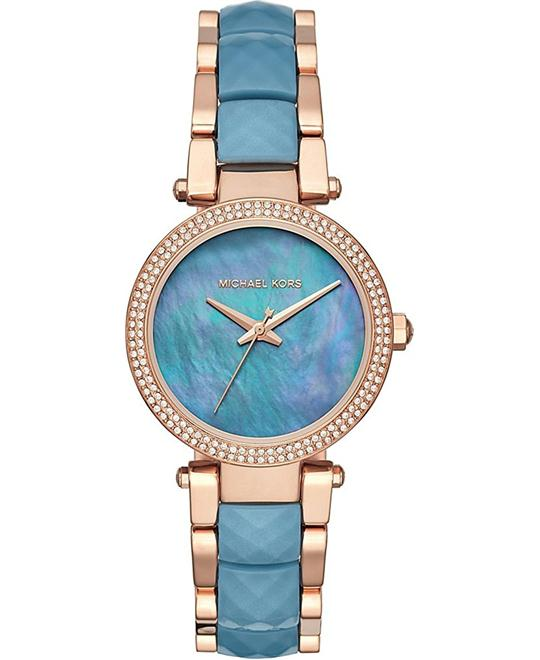 MICHAEL KORS Parker Rose Gold-Tone Watch 33mm