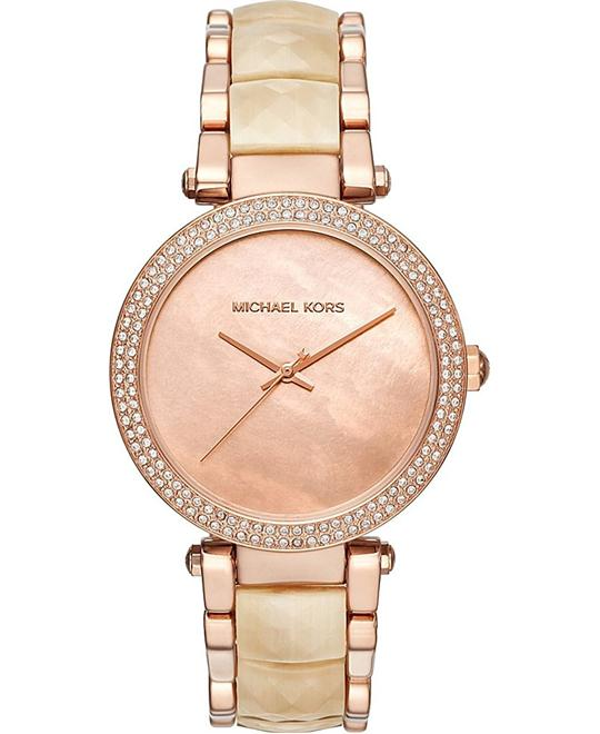 Michael Kors Parker Rose Gold-Tone Watch 39mm