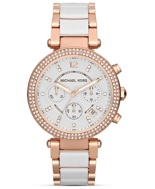 Michael Kors Parker White Rose Women's Watch 39mm